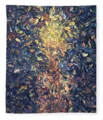 Fragmented Flame - Square Fleece Blanket