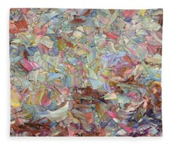 Fragmented Hill Fleece Blanket