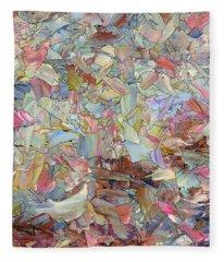 Fragmented Hill - Square Fleece Blanket