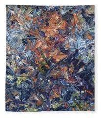 Fragmented Man Fleece Blanket