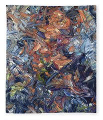 Fragmented Man - Square Fleece Blanket