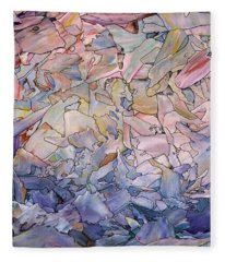 Fragmented Sea - Square Fleece Blanket