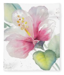 Fragrant Hibiscus II Fleece Blanket