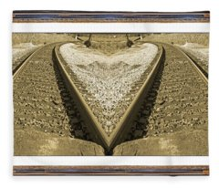 Framed Heart Fleece Blanket
