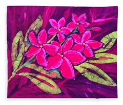 Frangipani Fleece Blanket