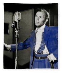 Frank Sinatra - Old Blue Eyes Fleece Blanket