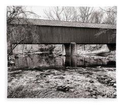 Frankenfield Bridge Over The Tinicum Creek Fleece Blanket