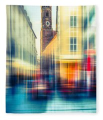 Frauenkirche - Munich V - Vintage Fleece Blanket