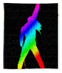 Freddie Mercury 2 Fleece Blanket