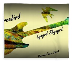 Freebird Lynyrd Skynyrd Ronnie Van Zant Fleece Blanket