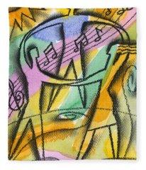 Music, Harmony And Health Fleece Blanket