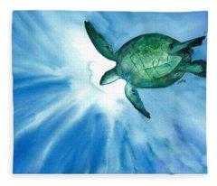 Sea Tutrle 2 Fleece Blanket