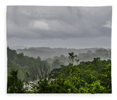 French Broad River Fleece Blanket