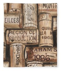 French Corks Fleece Blanket