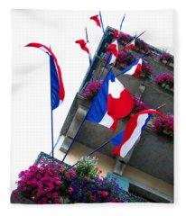 French Flags Fleece Blanket