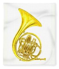 French Horn Fleece Blanket