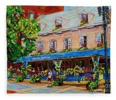 French Restaurant Jardin Nelson Paris Style Bistro Place Jacques Cartier Terrace Garden C Spandau   Fleece Blanket