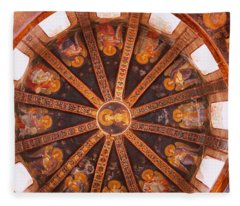 Frescos In A Church, Kariye Museum Fleece Blanket