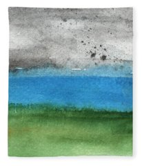 Fresh Air- Landscape Painting Fleece Blanket