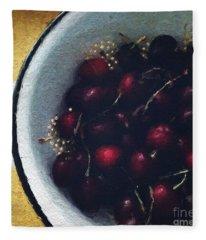 Fresh Cherries Fleece Blanket