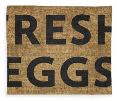 Fresh Eggs Fleece Blanket