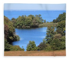Fresh Pond At Caumsett Fleece Blanket