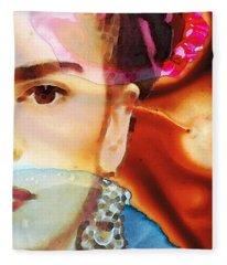 Frida Kahlo Art - Seeing Color Fleece Blanket