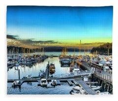 Friday Harbor Fleece Blanket