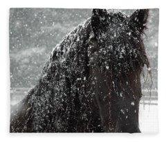 Friesian Snow Fleece Blanket