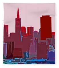 Frisco Skyline Fleece Blanket