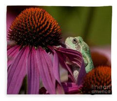 Frog And His Cone Fleece Blanket