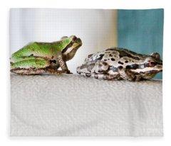 Frog Flatulence - A Case Study Fleece Blanket