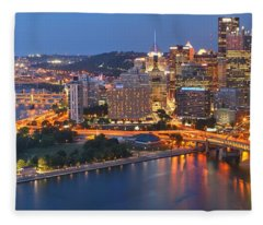 From The Fountain To Ft. Pitt Fleece Blanket