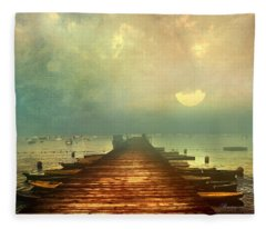 From The Moon To The Mist Fleece Blanket