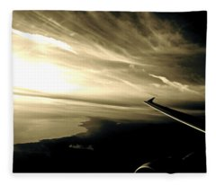From The Plane Fleece Blanket