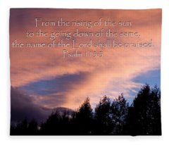 From The Rising Of The Sun Fleece Blanket