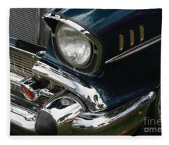 Front Side Of A Classic Car Fleece Blanket