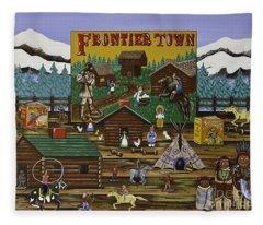 Frontier Town Fleece Blanket