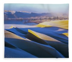 Frost And Sunlight Decorate The Sand Fleece Blanket