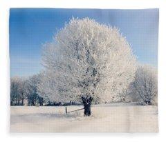 Frosty Glow Fleece Blanket