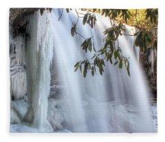 Frozen Dry Falls Fleece Blanket