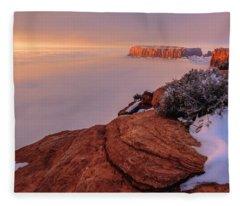 Frozen Mesa Fleece Blanket