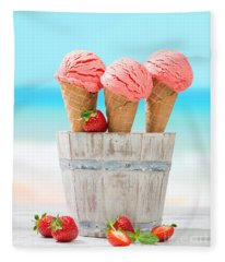 Fruit Ice Cream Fleece Blanket
