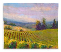 Fruit Of The Vine - Sokol Blosser Winery Fleece Blanket