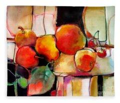 Fruit On A Dish Fleece Blanket