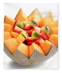 Fruit Salad Fleece Blanket