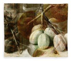 Fruits Background Fleece Blanket