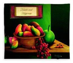 Fruits Still Life Fleece Blanket
