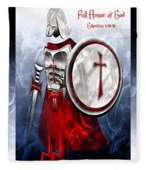 Full Armor Of God Fleece Blanket
