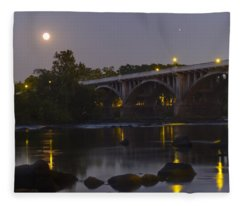 Full Moon And Jupiter-1 Fleece Blanket